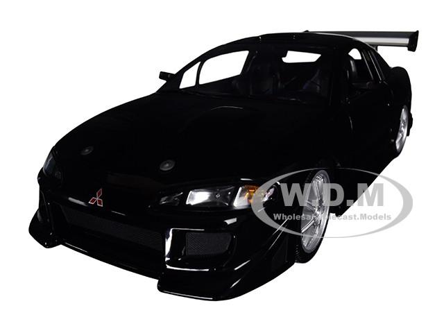 1995 Mitsubishi Eclipse Black 1/18 Diecast Model Car Greenlight 19040