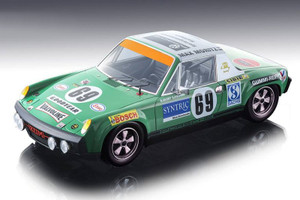 Porsche 914/6 #69 Quist Krumm Max Moritz Car 24 Hours Le Mans 1971 Mythos Series Limited Edition 100 pieces Worldwide 1/18 Model Car Tecnomodel TM18-83 B
