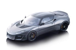 2017 Lotus Evora 410 Sport Metallic Dark Silver Carbon Top Mythos Series Limited Edition 90 pieces Worldwide 1/18 Model Car Tecnomodel TM18-111 B