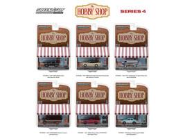 The Hobby Shop Series 4 Set 6 Cars 1/64 Diecast Models Greenlight 97040