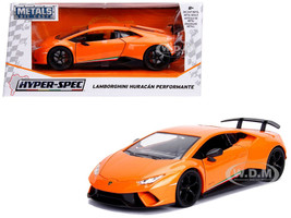 Lamborghini Huracan Perfomante Metallic Orange 1/24 Diecast Model Car Jada 99355
