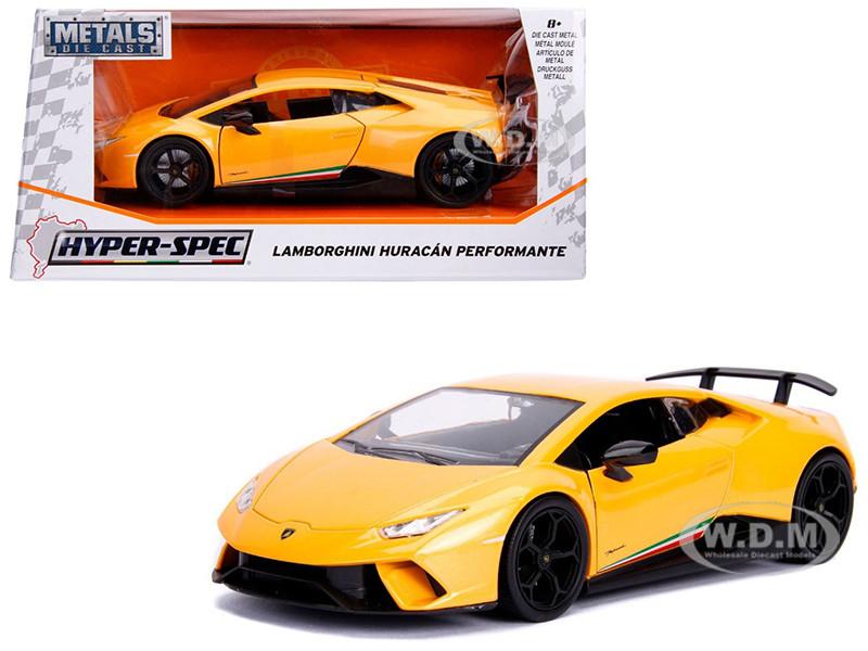 Lamborghini Huracan Perfomante Metallic Yellow 1/24 Diecast Model Car Jada 99707