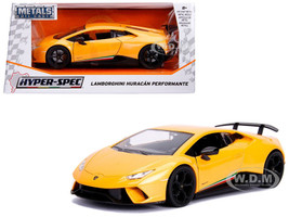 Lamborghini Huracan Perfomante Metallic Yellow 1/24 Diecast Model Car Jada 99707