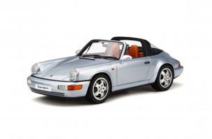 Porsche 911 964 Targa Polar Silver Limited Edition 999 pieces Worldwide 1/18 Model Car GT Spirit GT185