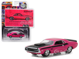 1970 Dodge Challenger Pink The Only Name Tattooed on More Muscles is Mom BFGoodrich Vintage Ad Cars Hobby Exclusive 1/64 Diecast Model Car Greenlight 29943