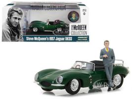 1957 Jaguar XKSS Convertible Green Figurine 1/43 Diecast Model Car Greenlight 86434