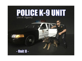 Police Officer Figure K9 Dog Unit II 1/24 Scale Models American Diorama 38264