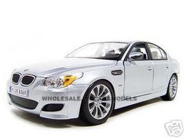 BMW M5 Diecast Model Silver 1/18 Die Cast Car Maisto 31144
