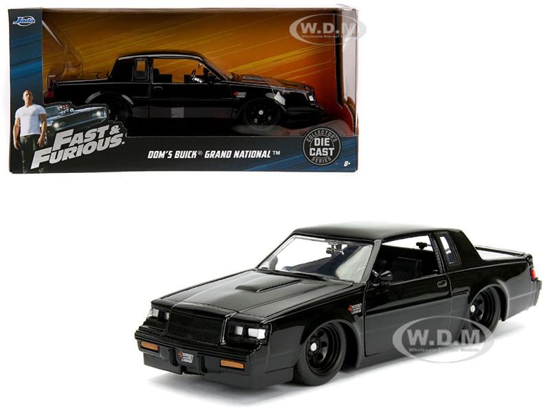 Dom's Buick Grand National Black Fast Furious Movie 1/24 Diecast Model Car Jada 99539