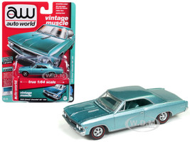 1966 Chevrolet Chevelle SS Artesian Turquoise Poly Limited Edition 2016 pieces Worldwide 1/64 Diecast Model Car Autoworld AWSP012