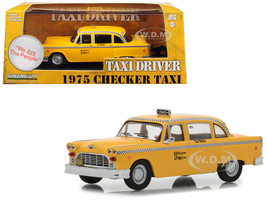 1975 Checker Taxicab Yellow Travis Bickle Taxi Driver 1976 Movie 1/43 Diecast Model Car Greenlight 86532
