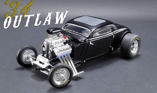 1934 Blown Altered Coupe Outlaw Black Limited Edition 576 pieces Worldwide 1/18 Diecast Model Car GMP ACME 18900
