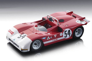 Alfa Romeo T33/3 #54 de Adamich Pescarolo Winner Brands Hatch 1000 km 1971 Limited Edition 100 pieces Worldwide 1/18 Model Car Tecnomodel TM18-50 A