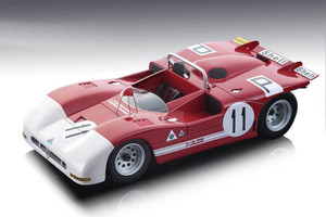 Alfa Romeo T33/3 #11 de Adamich Pescarolo 4th Place Nurburgring 1000 km 1971 Limited Edition 100 pieces Worldwide 1/18 Model Car Tecnomodel TM18-50 B