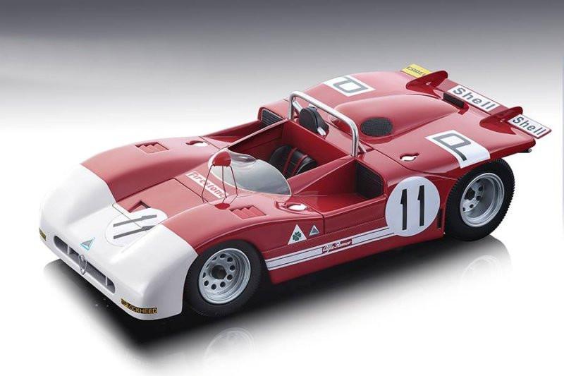 Alfa Romeo T33/3 #11 de Adamich Pescarolo 4th Place Nurburgring 1000 km 1971 Limited Edition 100 pieces Worldwide 1/18 Model Car Tecnomodel TM18-50 B