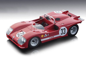 Alfa Romeo T33/3 #33 Galli Stommelen 2nd Place Sebring 12hrs 1971 Limited Edition 100 pieces Worldwide 1/18 Model Car Tecnomodel TM18-50 D