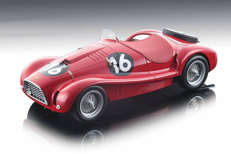 Ferrari 225 S Spyder Vignale #16 Roberto Mieres 1953 GP Supercortemaggiore 6th Place Limited Edition 60 pieces Worldwide 1/18 Model Car Tecnomodel TM18-81 B