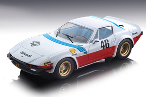 Ferrari 365 GTB/4 Michelotti Shell #46 Malcher Langlois Facetti 1975 24hrs Le Mans Team NART Mythos Series Limited Edition 150 pieces Worldwide 1/18 Model Car Tecnomodel TM18-94 A