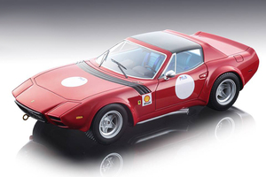 Ferrari 365 GTB/4 Michelotti Shell Press Version Red Black Roof 1975 Team NART Mythos Series Limited Edition 150 pieces Worldwide 1/18 Model Car Tecnomodel TM18-94 B