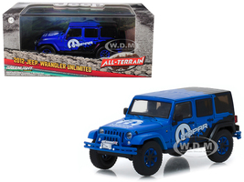 2012 Jeep Wrangler Unlimited MOPAR Off Road Edition Blue All Terrain Series 1/43 Diecast Model Car Greenlight 86099