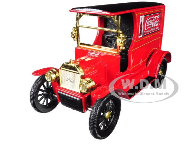 1917 Ford Model T Cargo Van Coca Cola Red Black Top 1/24 Diecast Model Car Motorcity Classics 424917