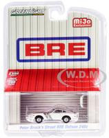 Datsun 240Z BRE Edition Brock Racing Enterprises Peter Brock's Street White Silver Top Stripes Limited Edition 4600 pieces Worldwide 1/64 Diecast Model Car Greenlight 51157