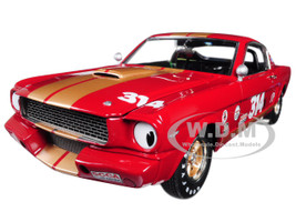 1966 Ford Shelby Mustang GT350H #314 Rent a Racer Red Gold Stripes Limited Edition 606 pieces Worldwide 1/18 Diecast Model Car Acme A1801823