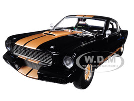 1966 Custom Ford Shelby Mustang GT350H Black Gold Stripes Limited Edition 540 pieces Worldwide 1/18 Diecast Model Car Acme A1801827