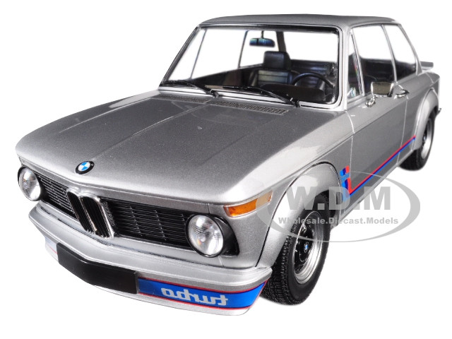 1973 BMW 2002 Turbo Silver Stripes 1/18 Diecast Model Car Minichamps 155026201