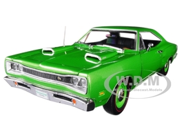 1969 Dodge Coronet Super Bee Green Hemmings Muscle Machines Magazine Limited Edition 1002 pieces Worldwide 1/18 Diecast Model Car Autoworld AMM1136