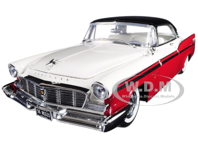 1956 Chrysler New Yorker St Regis Red White Black Top Limited Edition 552 pieces Worldwide 1/18 Diecast Model Car Acme A1809001