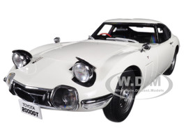 Toyota 2000GT Coupe RHD Right Hand Drive White 1/18 Model Car Autoart 78753