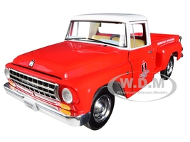 International Harvester C1100 International Trucks Pickup Truck Red White Top 1/25 Diecast Model Car First Gear 40-0418
