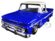 1966 Chevrolet C10 Fleetside Pickup Truck Blue Cream Top 1/24 Diecast Car Model Motormax 73355