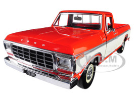 1979 Ford F-150 Custom Pickup Truck Orange Cream 1/24 Diecast Model Car Motormax 79346