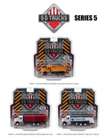 2018 International Workstar Trucks Set 3 SD Trucks Series 5 1/64 Diecast Models Greenlight 45050