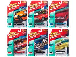 Classic Gold 2018 Release 2 Set B 6 Cars 1/64 Diecast Models Johnny Lightning JLCG014
