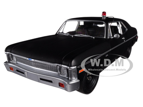 1971 Chevrolet Nova Police Matte Black Hunter 1984 1991 TV Series Limited Edition 348 pieces Worldwide 1/18 Diecast Model Car GMP 18903