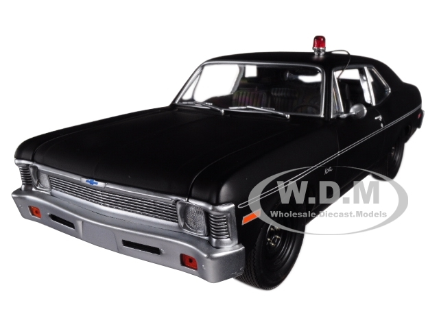1971 Chevrolet Nova Police Matte Black Hunter 1984 1991 TV Series Limited Edition 348 pieces Worldwide 1/18 Diecast Model Car GMP 18903