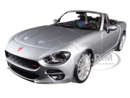 Fiat 124 Spider Coupe Grey 1/24 Diecast Model Car BBurago 21083