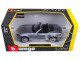 Fiat 124 Spider Coupe Grey 1/24 Diecast Model Car BBurago 21083