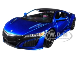 2018 Acura NSX Blue Black Top 1/24 Diecast Model Car Maisto 31234