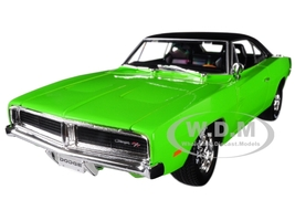 1969 Dodge Charger R/T Green Black Top 1/18 Diecast Model Car Maisto 32612