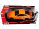 2018 Ford Mustang GT 5.0 Orange Black Wheels 1/24 Diecast Model Car Motormax 79352