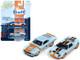 2005 Ford GT Light Blue Gulf 1970 Ford Mustang Boss 302 70 Light Blue Gulf 1/64 Diecast Model Cars Johnny Lightning JLPK004 JLSP042