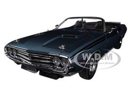 1971 Dodge Challenger R/T Convertible Luggage Rack Gunmetal Gray Metallic Black Stripes 1/18 Diecast Model Car Greenlight 13528