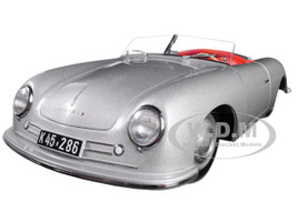 1948 Porsche 356 Number 1 Convertible Revised Edition Silver 1/18 Model Car Autoart 78072
