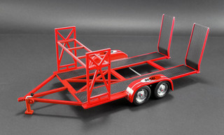 Tandem Car Trailer Tire Rack So Cal Speed Shop Red Limited Edition 996 pieces Worldwide 1/18 Diecast Model GMP 18907
