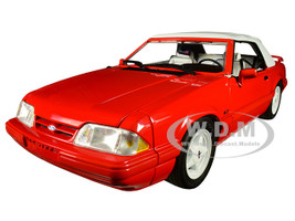 1992 Ford Mustang LX 5.0L Convertible Feature Car Vibrant Red Limited Edition 504 pieces Worldwide 1/18 Diecast Model Car GMP 18822