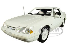 1993 Ford Mustang LX 5.0L Convertible Feature Car Vibrant White Limited Edition 474 pieces Worldwide 1/18 Diecast Model Car GMP 18824